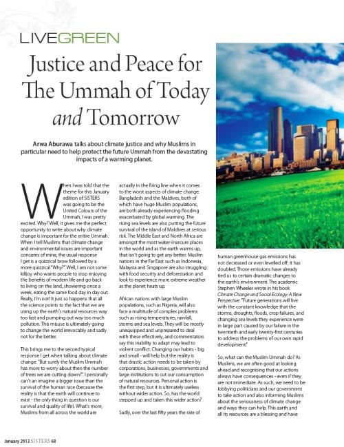 Green Ummah 1 SISTERS Magazine